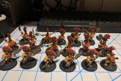 My Fyreslayer Troops - Auric Hearthguard,  Vulkite Berzerkers,  Grimwrath Berzerker.