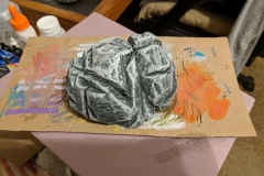 Simple scatter boulder made from a couple layers of XPS glued together.