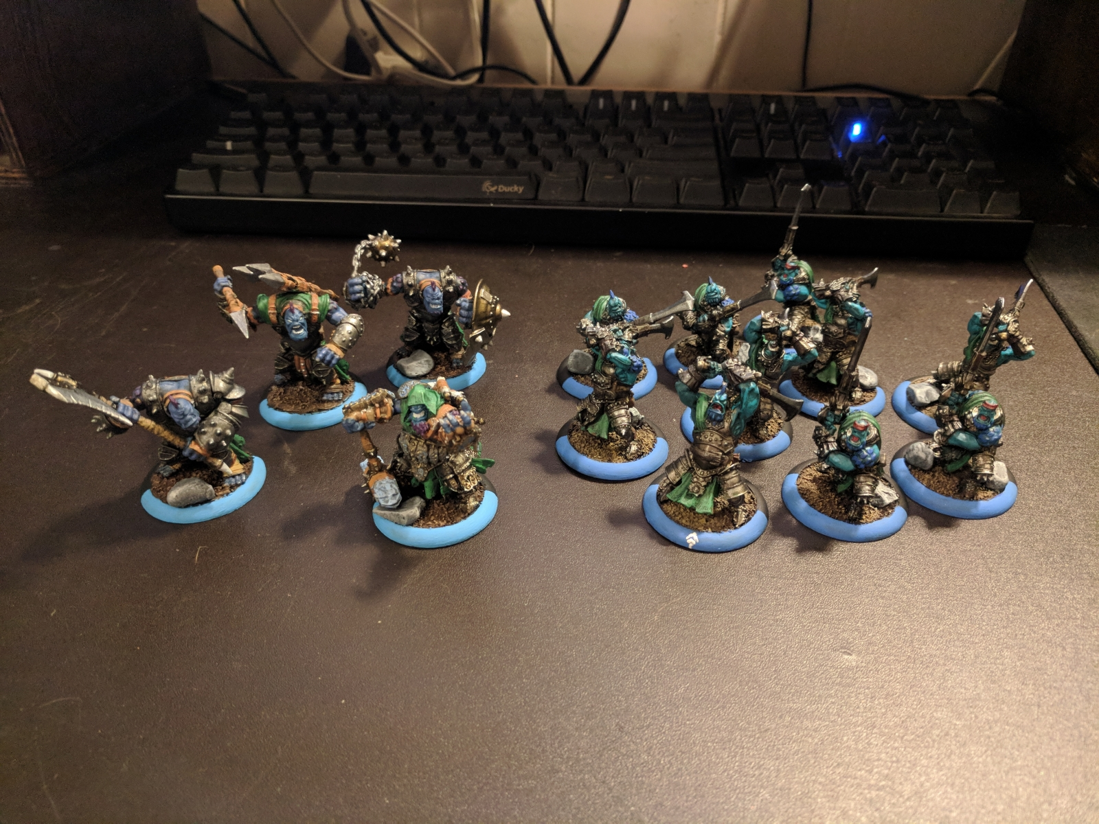 The start of my Trollbloods army from the 2-Player Battlebox
