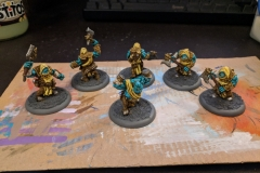Krielstone Bearer & Stone Scribes (Sans stone in this shot as I was still deciding whether to make the runes glow or not)