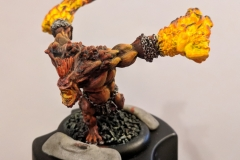Pyre Troll - was my first attempt at blending with the hardest color to do anything with...yellow.