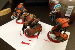 Khador Demolisher posing with his brothers.